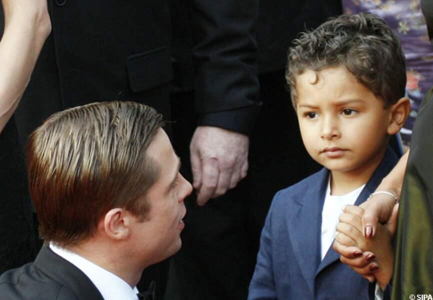 Brad Pitt et le fils de Daniel Pearl au festival de Cannes en 2007