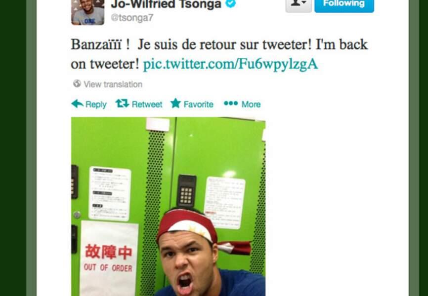 Le tennisman Jo-Wilfried Tsonga is back!
