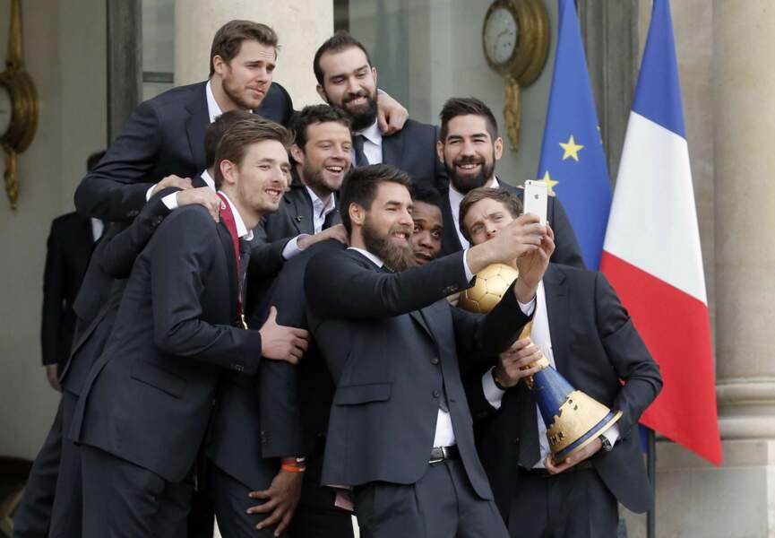 Selfie souvenir pour l'équipe de France