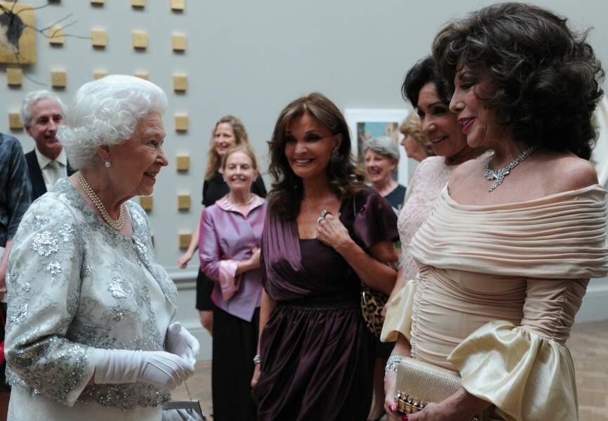 Avec Elisabeth II en 2012