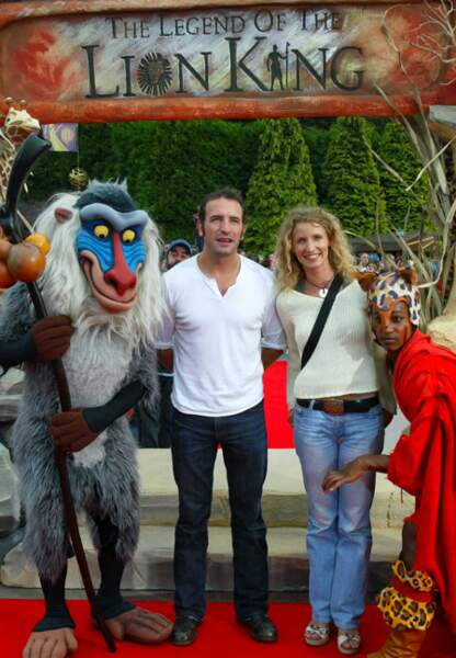 Jean Dujardin et Alexandra Lamy à Disneyland Paris en 2004