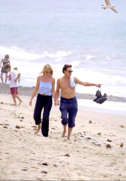 Paul McCartney et Heather Mill en 2001 à Malibu