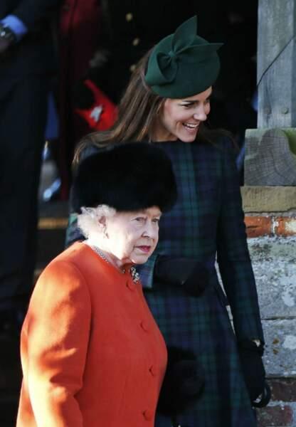 La duchesse de Cambridge et la reine Elisabeth II