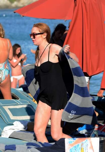 Lindsay Lohan à Mykonos