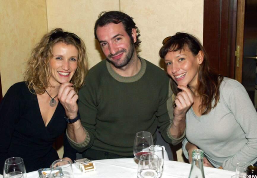 Alexandra Lamy, Jean Dujardin et Julie Debazac aux Journées Nationale du livre et du vin en 2004