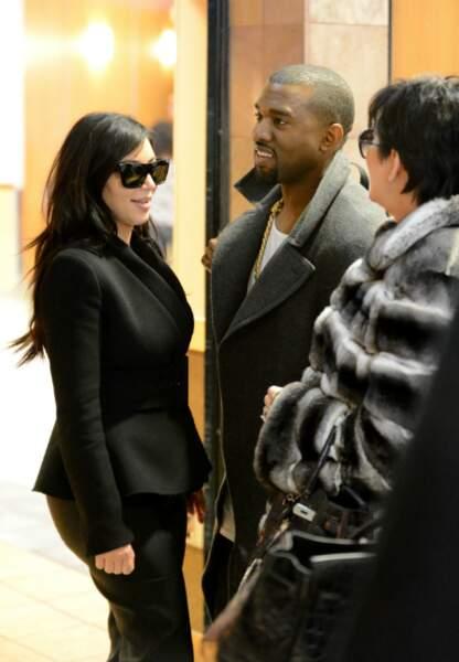 Kim Kardashian, Kanye West et Kris Jenner