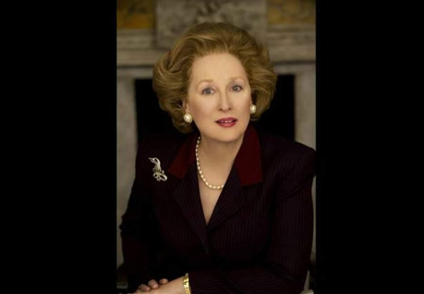 Meryl Streep en Margaret Thatcher (La Dame de Fer, de Phyllida Lloyd, 2012)