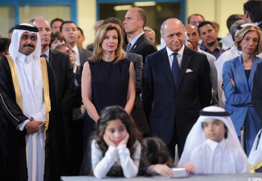 Valérie Trierweiler à l'inauguration du lycée Voltaire de Doha