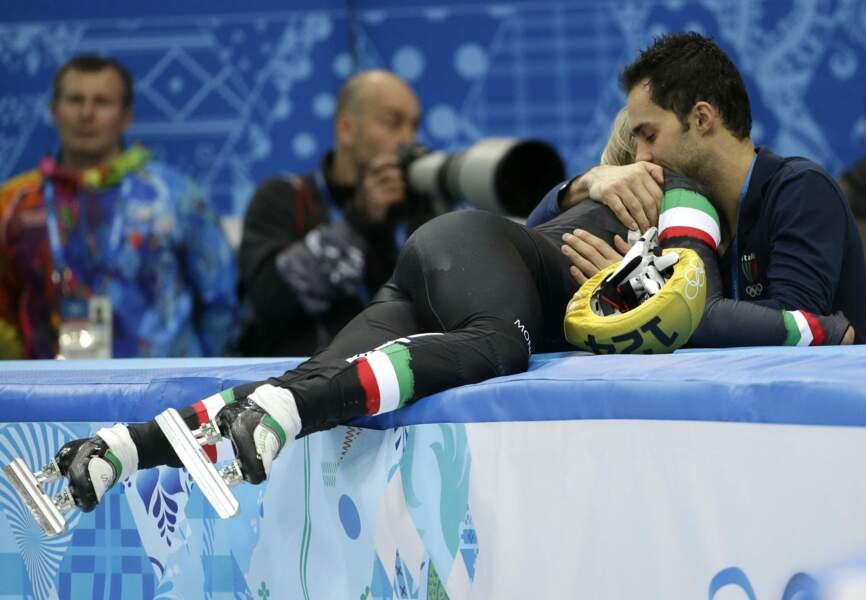 La patineuse italienne Adrianna Fontana n'aura pas tenu plus longtemps sans son amoureux