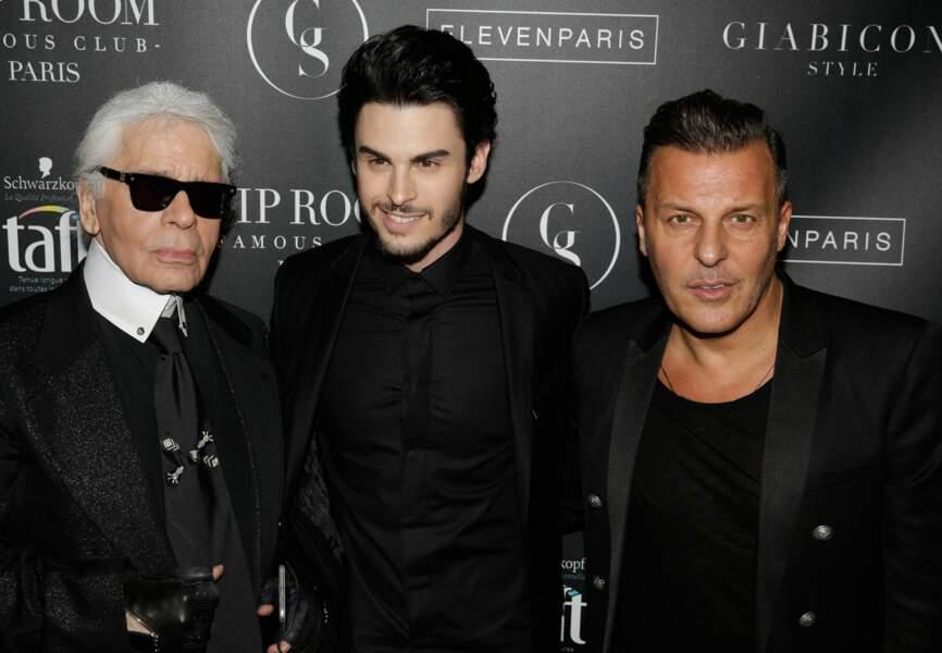 Karl Lagerfeld, Baptiste Giabiconi et Jean-Roch