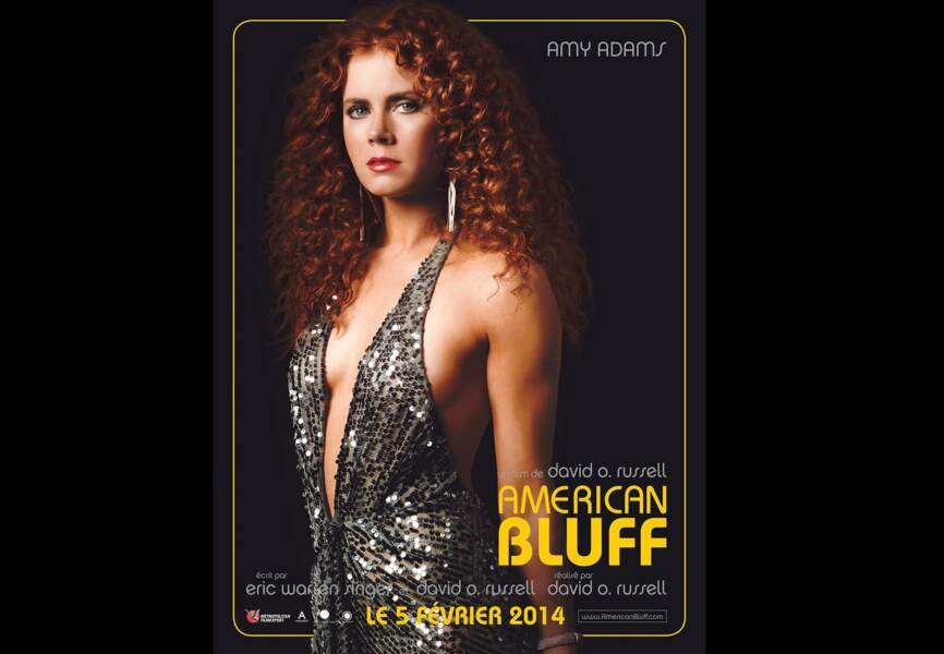 Robe glitter pour Amy Adams