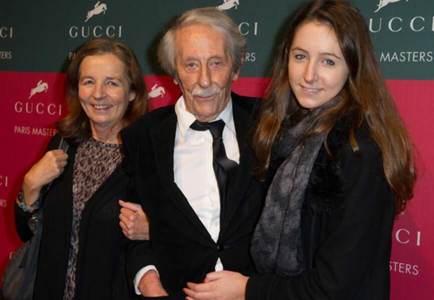 Jean Rochefort avec sa femme et sa fille