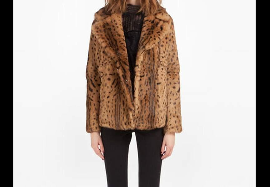 Maje – Manteau imprimé léopard Dalenda – Soldé 447,50€