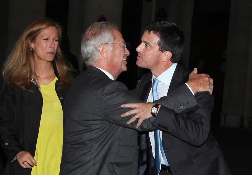 Manuels Valls et Anne Gravoin avec leur ami Bernard Murat