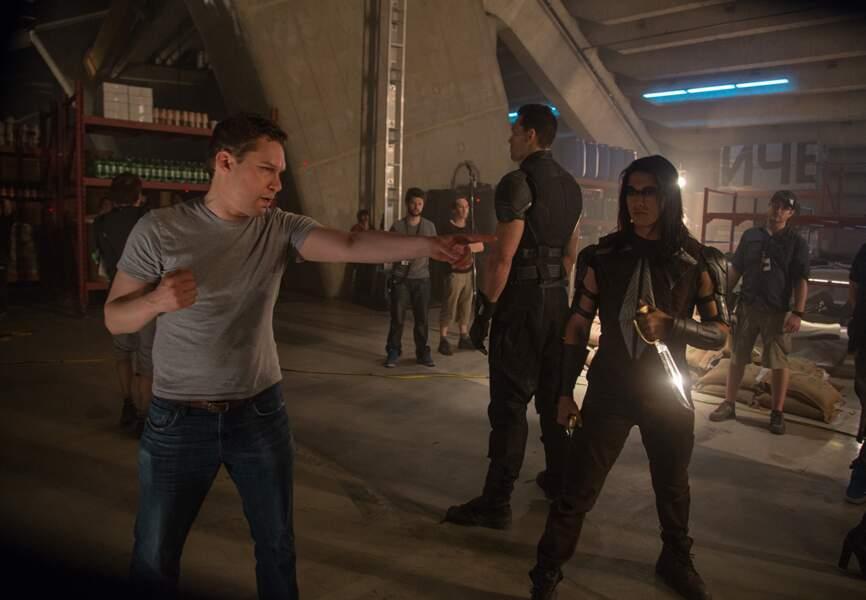 Le réalisateur Bryan Singer en plein travail sur le tournage de X-Men: Days of Future Past