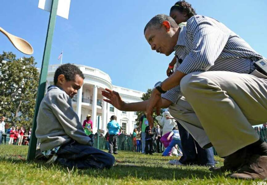 Quand Barack réconforte un petit garçon...