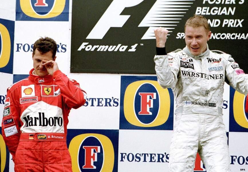 La période 1998-99 marque la domination de son rival de toujours, Mika Hakkinen