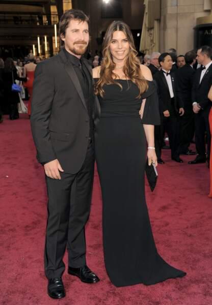 Christian Bale sans son masque de Batman au bras de Sibi Blazic