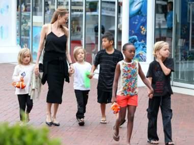 Angelina Jolie visite l'aquarium de Sydney en famille