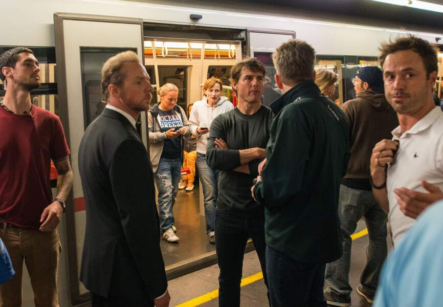Tom Cruise et Simon Pegg prennent le métro à Vienne