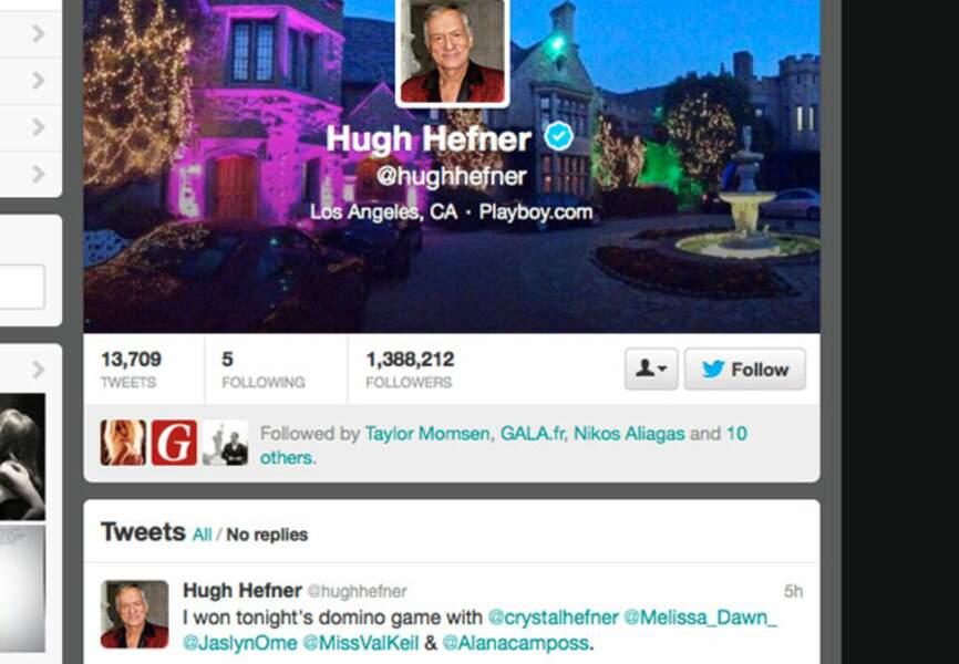 Hugh Efner roi des dominos