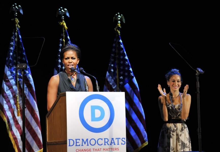 Engagée aux côtés des Obama