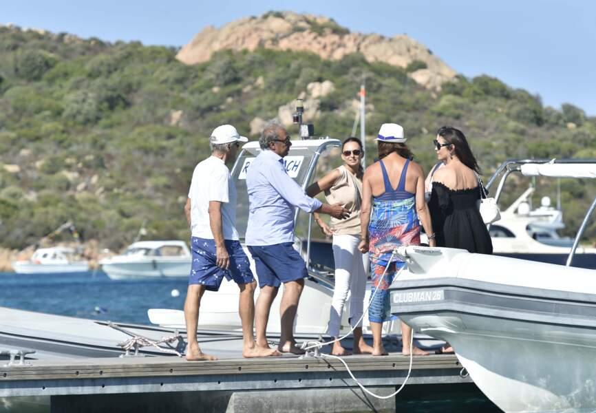 Catherine Zeta-Jones et Michael Douglas en Italie avec des amis