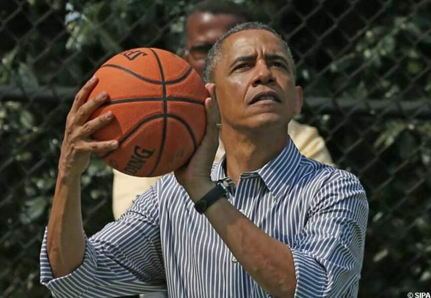 Séance de basket pour Barack