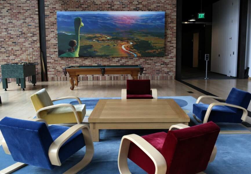 Espace détente dans l'immeuble Steve Jobs