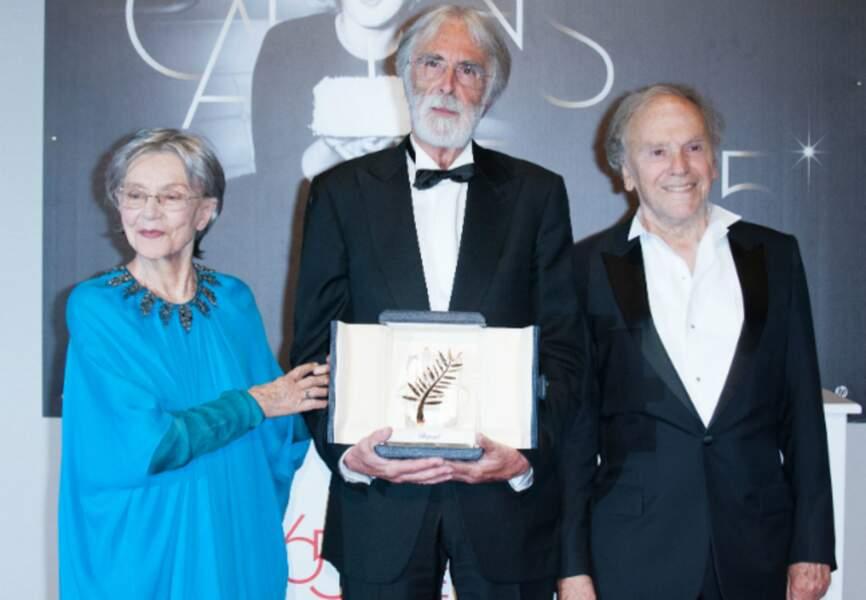 A Cannes, aux côtés de Michael Haneke et Emmanuelle Riva