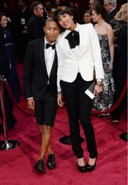 Pharrel Williams toujours au top de la mode, sans chapeau cette fois-ci mais en compagnie de Helen Lasichanh