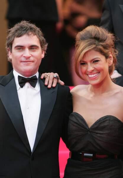 Joaquin Phoenix pour La nuit nous appartient en 2007, au bras d'Eva Mendes