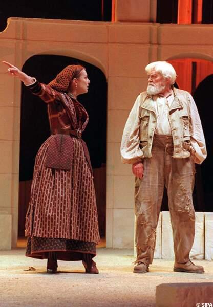 Au théâtre avec Jean Marais en 1997