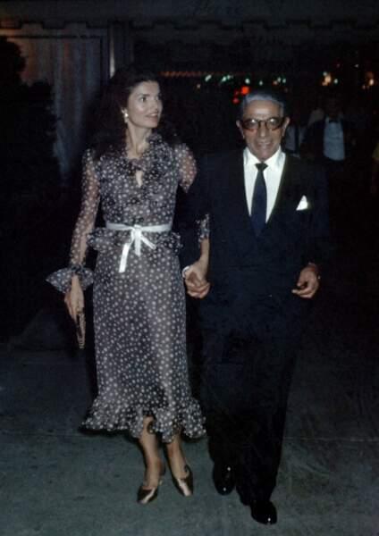 Jackie et son deuxième mari, Onassis, en 1970