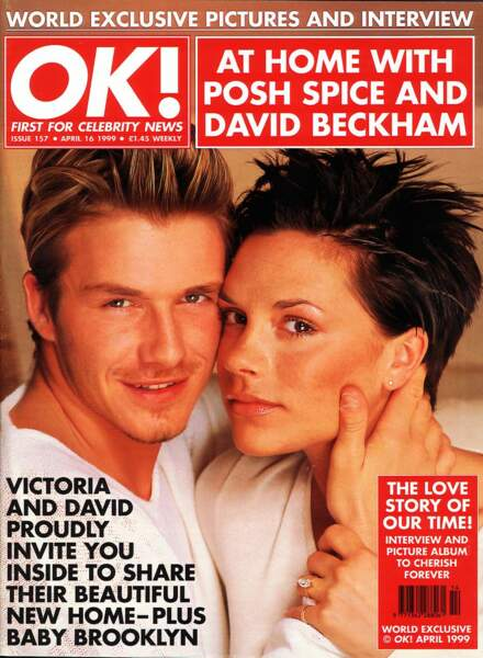 David et Victoria Beckham pour OK Magazine en 1999