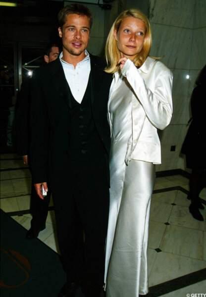 Les jeunes débutants. Gwyneth et Brad Pitt en 1991