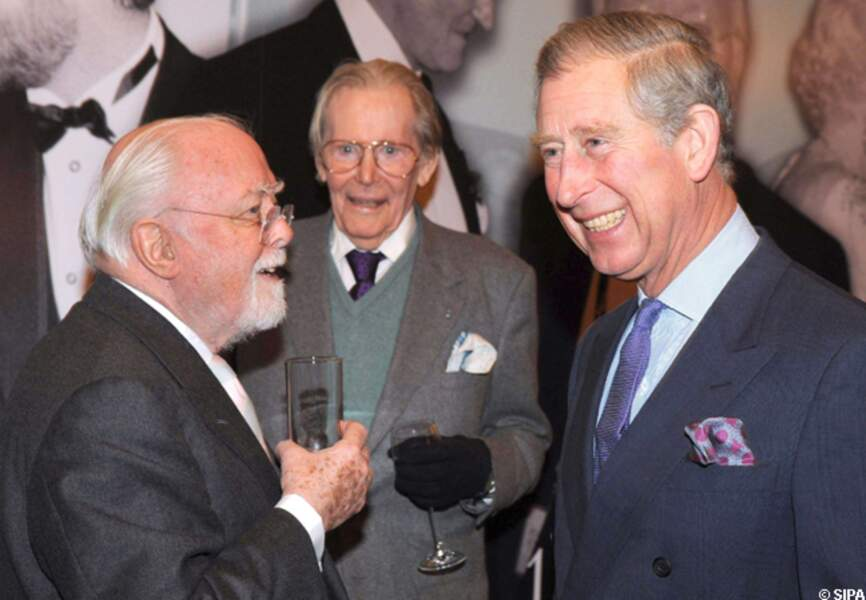 Peter O'Toole et Richard Attenborough reçus par le prince Charles en 2008