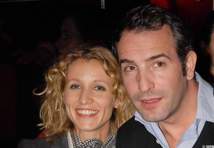Jean Dujardin et Alexandra Lamy au prix Raimu de la comédie, à l'espace Cardin en 2007