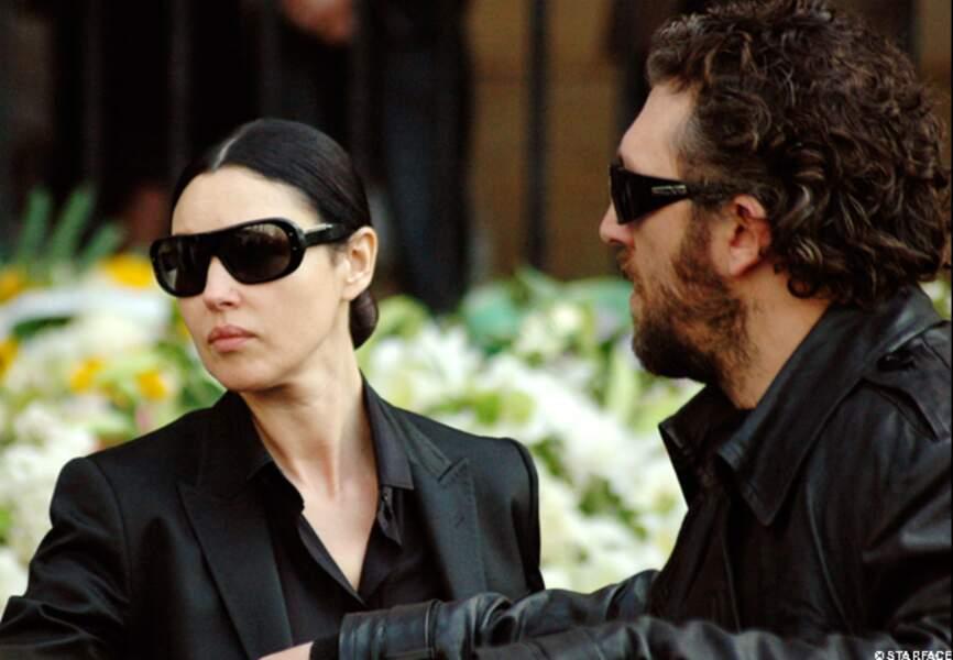 Lors des obsèques de Jean-Pierre Cassel en 2007