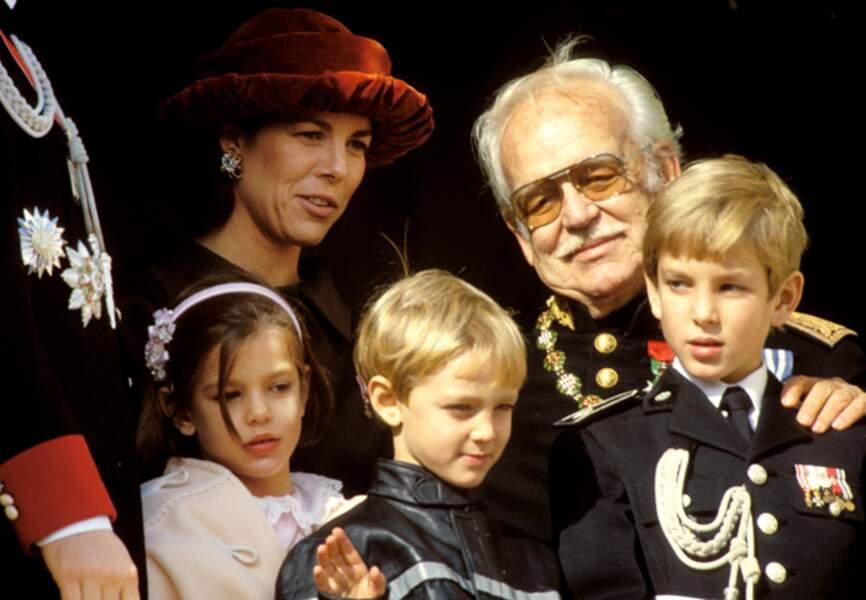 Lors de la Fête nationale monégasque le 19 novembre 1993