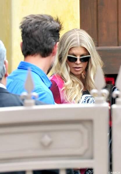 Fergie arrive au SLS Hotel de Beverly Hills à Los Angeles
