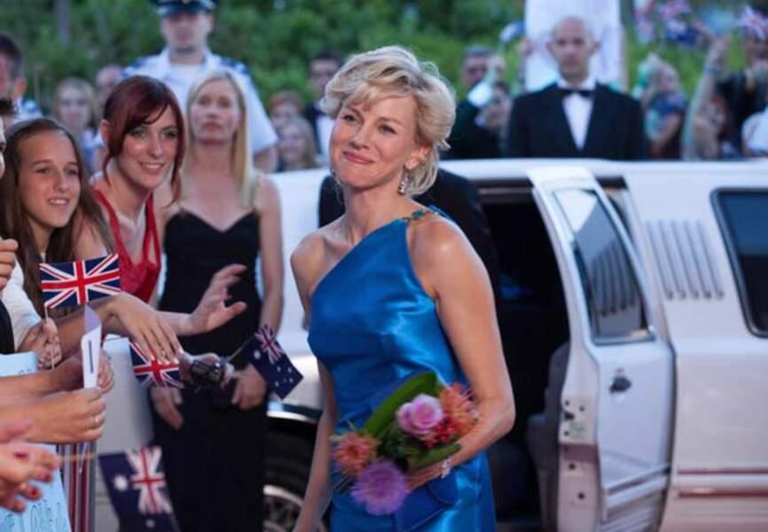 Naomi Watts en Lady Diana (Diana, d'Olivier Hirschbiegel sortie en 2013)