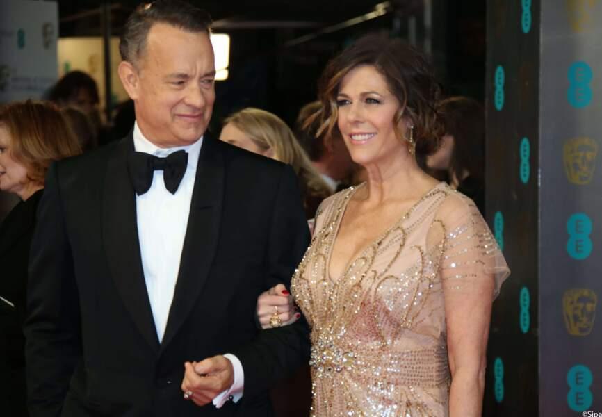 """Tom Hanks, qui incarnera Walt Disney dans le prochain film """"Dans l'ombre de Mary"""" était avec Rita Wilson"""