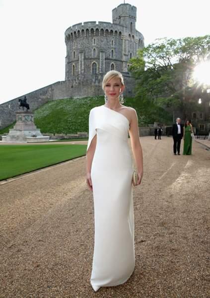 Cate Blanchett en Ralph Lauren au gala du Prince William en Windsor. Élégance est le mot