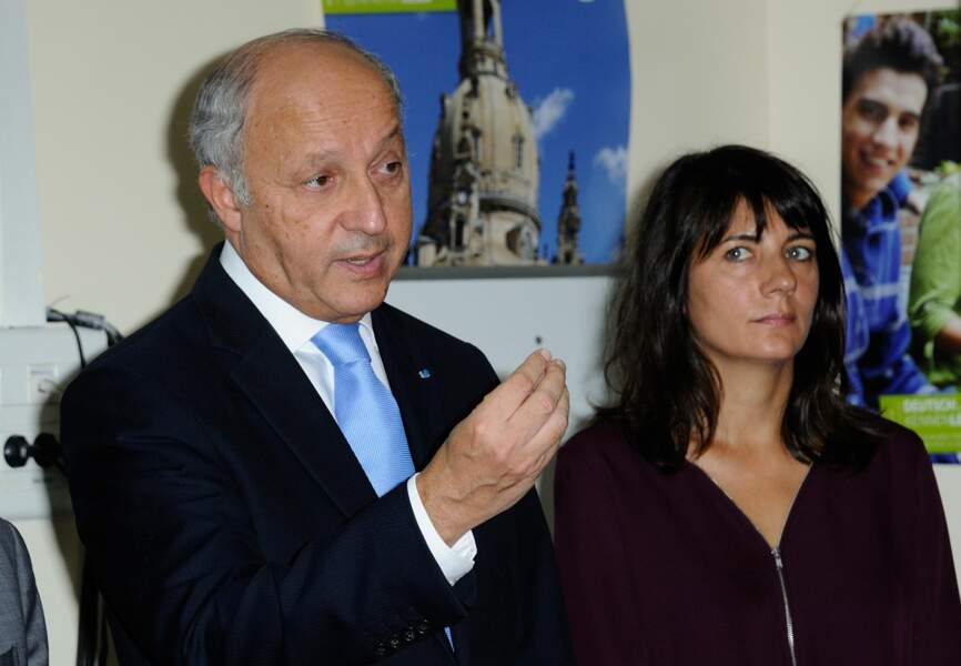 Estelle Denis et Laurent Fabius en 2014