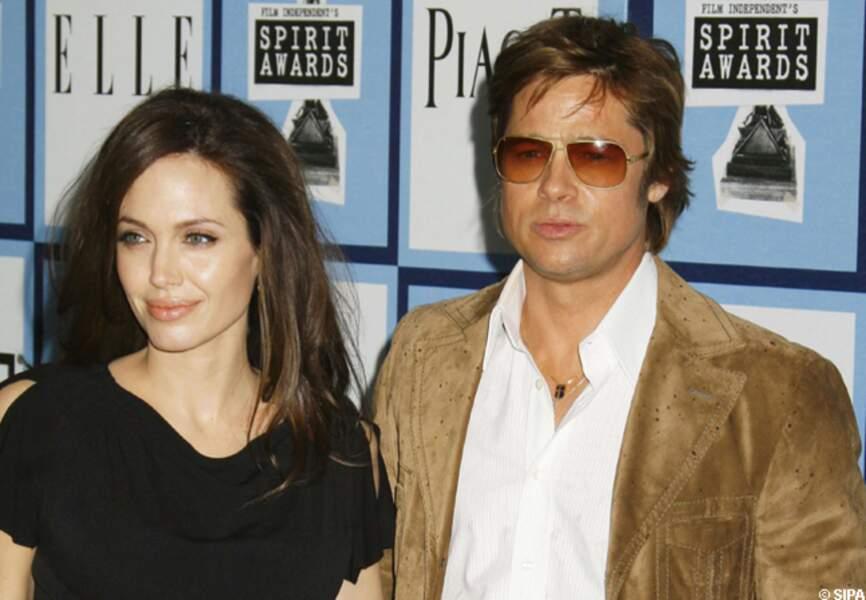 Brad Pitt et Angelina Jolie à Santa Monica en 2008
