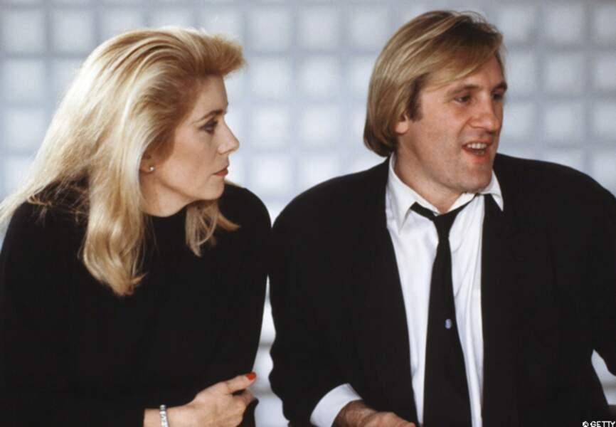 Catherine Deneuve et Gérard Depardieu en 1988