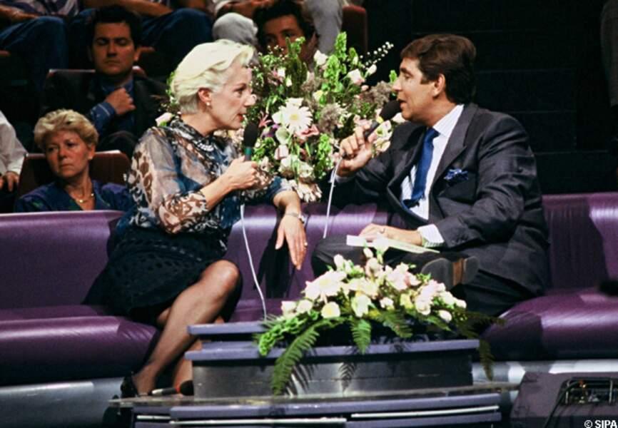 Bernadette Lafont et Jean-Pierre Foucault en 1988