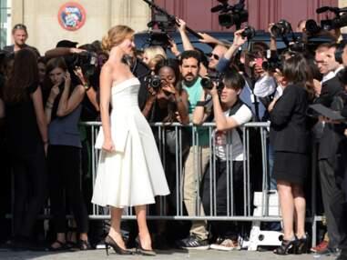 Les peoples au défilé Dior