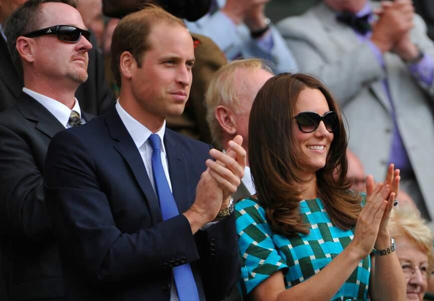 Le prince William et son épouse, la duchesse de Cambridge Kate Middleton